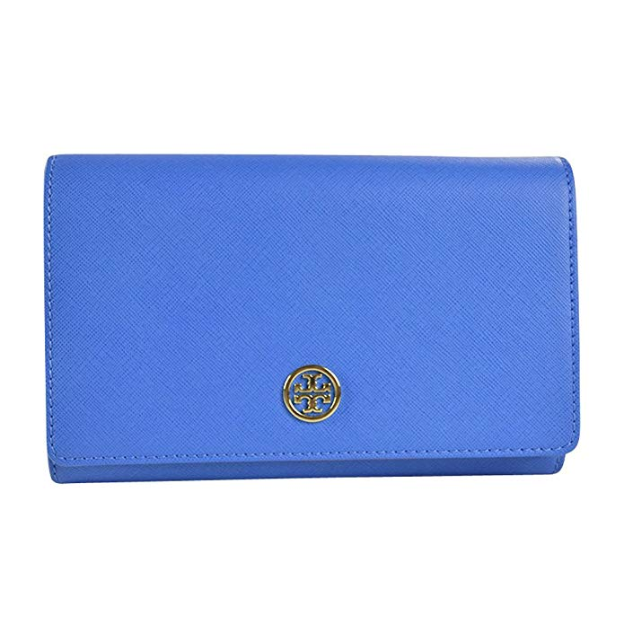 Tory Burch Robinson Chain Wallet - Windsor Blue