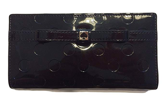 Kate Spade Camelia Street Stacy Black Clutch Wallet WLRU1775