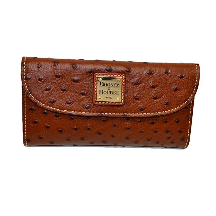 Dooney & Bourke Ostrich Emb Leather Continental Clutch