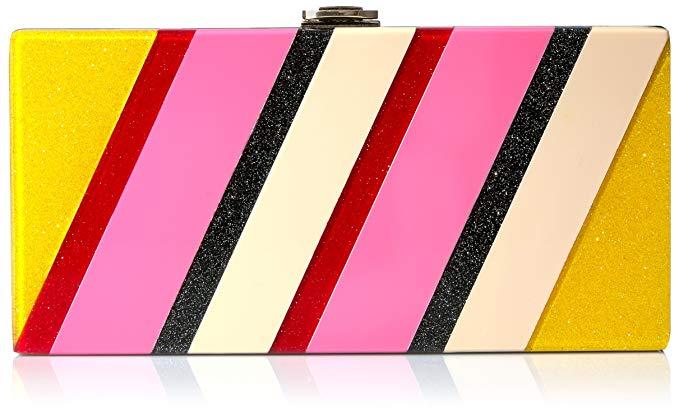 MILLY Stripe Clutch