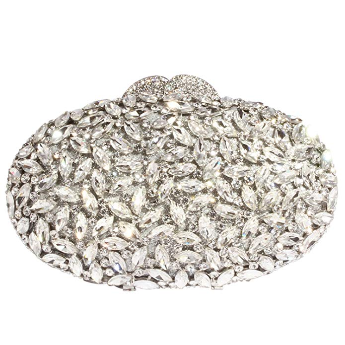 Digabi Twinkling Oval Shape Women Crystal Evening Clutch Bags