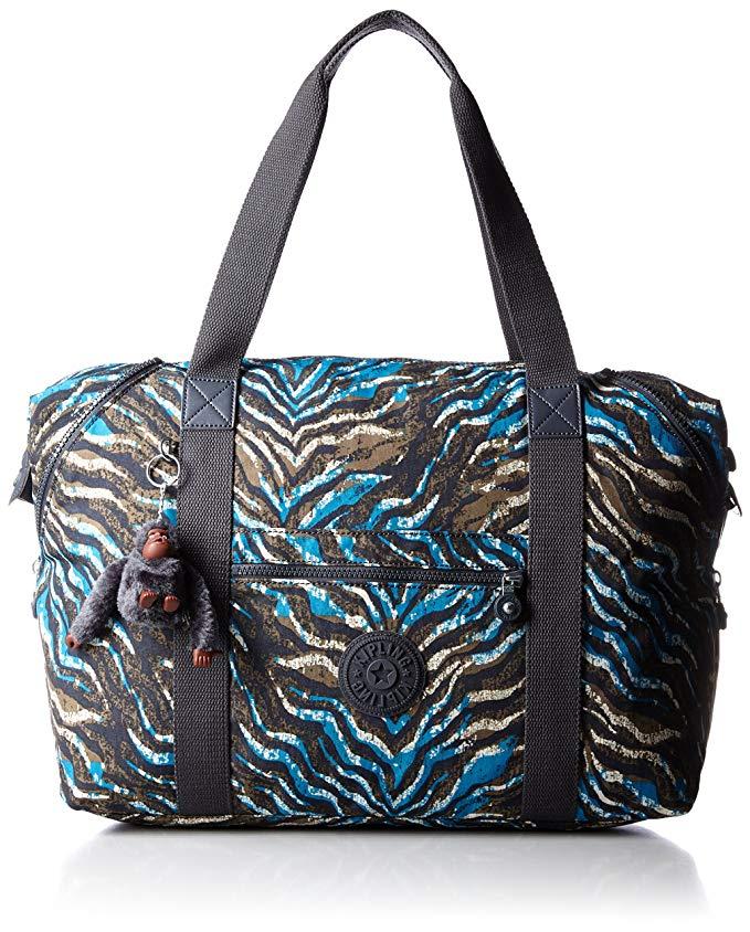 Kipling Art M, Medium Travel Tote, 58 cm, 26 liters, Blue (Blue Animal Pr)