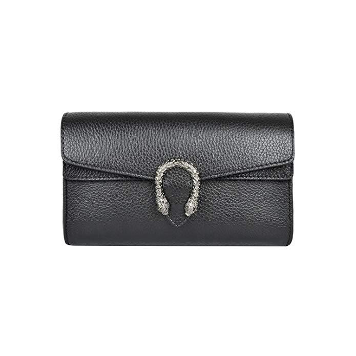 RACHEL PEBBLE Italian leather women's super shoulder handbag flap cross-body bag metal chain bag pebble grained leather