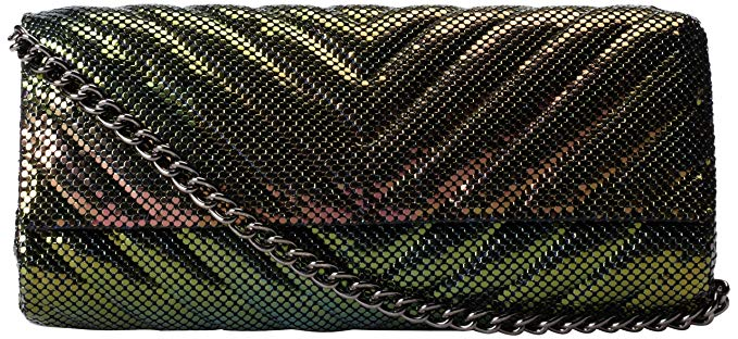 Whiting & Davis Quilted Chevron Evening Bag