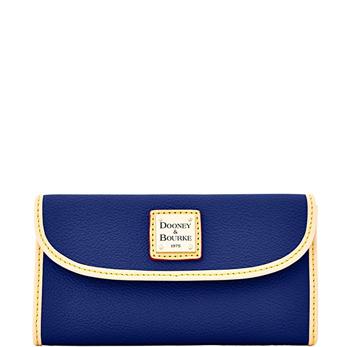 Dooney & Bourke Carley Coated Cotton Continental Clutch Midnight Blue